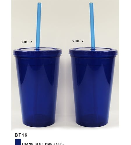 16oz. Bolero Tumbler  Plastic cup sold by Freedom Branding