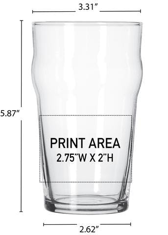 19 OZ. NONIC PUB #349 Beer glass sold by Clearwater Gear