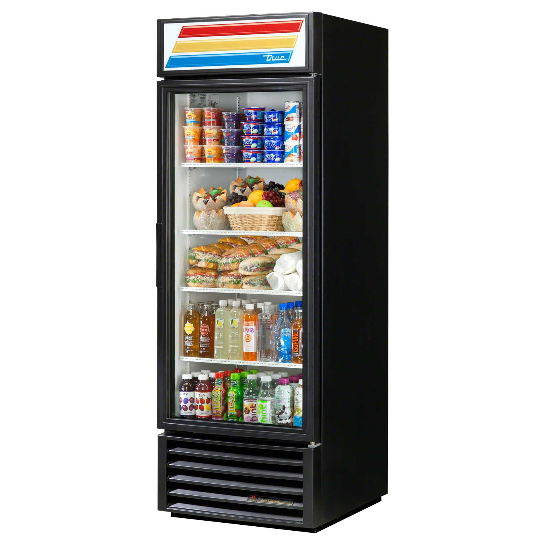 "True - GDM-23-RC-LD 27"" Swing Glass Door Merchandiser Refrigerator LED Commercial refrigerator sold by Food Service Warehouse"