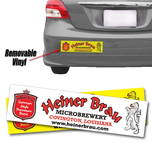 Spot Color Removable Bumper Sticker: 11 1/2 x 3 Promotional sticker sold by MicrobrewMarketing.com