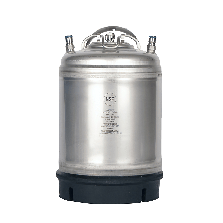 NEW! NSF Approved AMCYL Brand 2.5 Gallon Single Handled Kegs Keg sold by All Safe Global, Inc.
