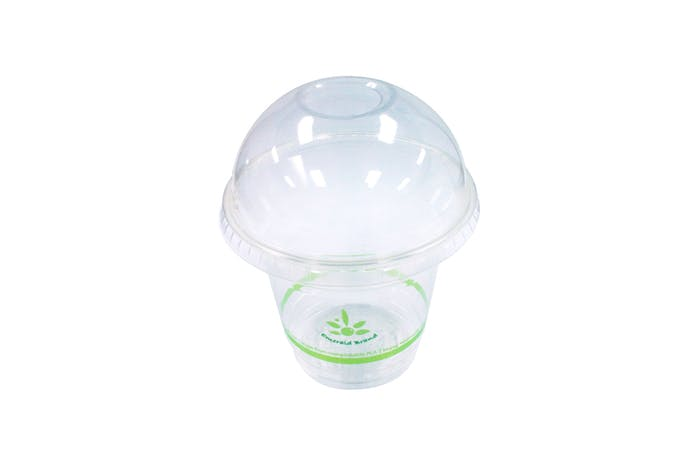 Dome Compostable Lid for 20oz, 16oz, 12oz, 9oz Cold Cups Disposable cup sold by Emerald Brand