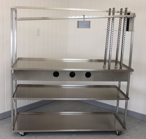 Cheese Drain Table with Optional Cheese Press Food prep table sold by MicroDairy Designs