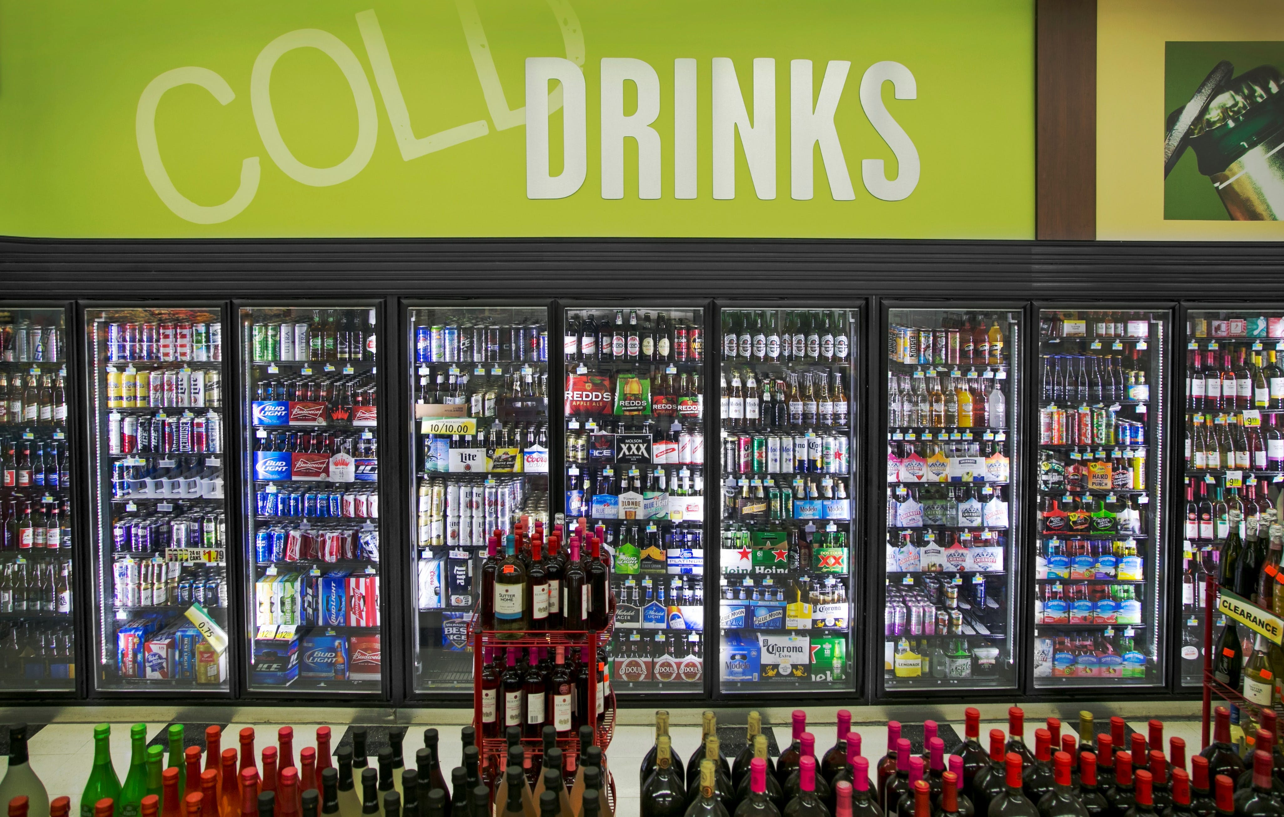 Display Door Cooler - Walk in cooler with 8 display doors, Box size 8' x 21.5' x 8.2' SAMS-V - sold by Easy Refrigeration Company