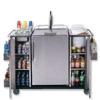 Summit CARTOSBC Stainless Steel Outdoor Serving Cart w/ Beer Dispenser Kegerator sold by Beverage Factory