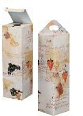 Vintage Grapes 1 Bottle Wine Boxes (Item # AJJOP-FYULO) Wine box sold by InkEasy
