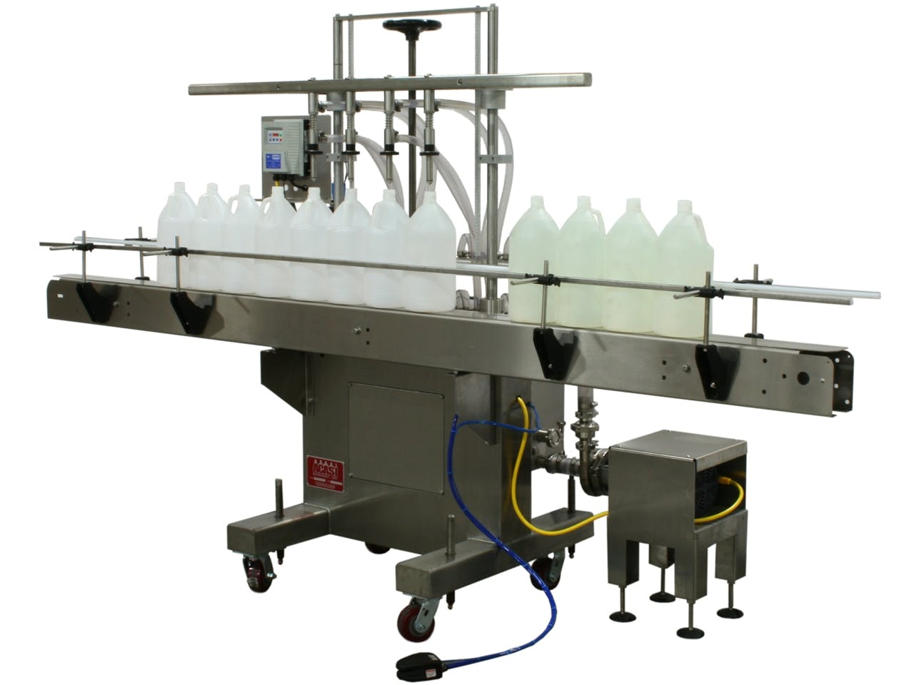 Semi-Automatic Pressure Overflow Filler - Model GIS 3300 Bottle filler sold by ACASI Machinery