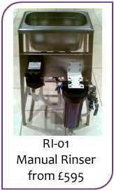Bottle rinser: 2-head manual Bottle washer sold by Liquid Solutions