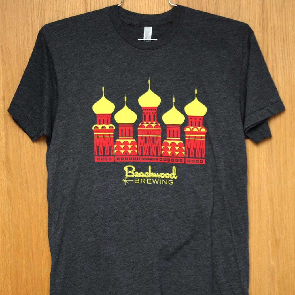 50/50 Tee - Beachwood - Tovarish Promotional shirt sold by Brewery Outfitters