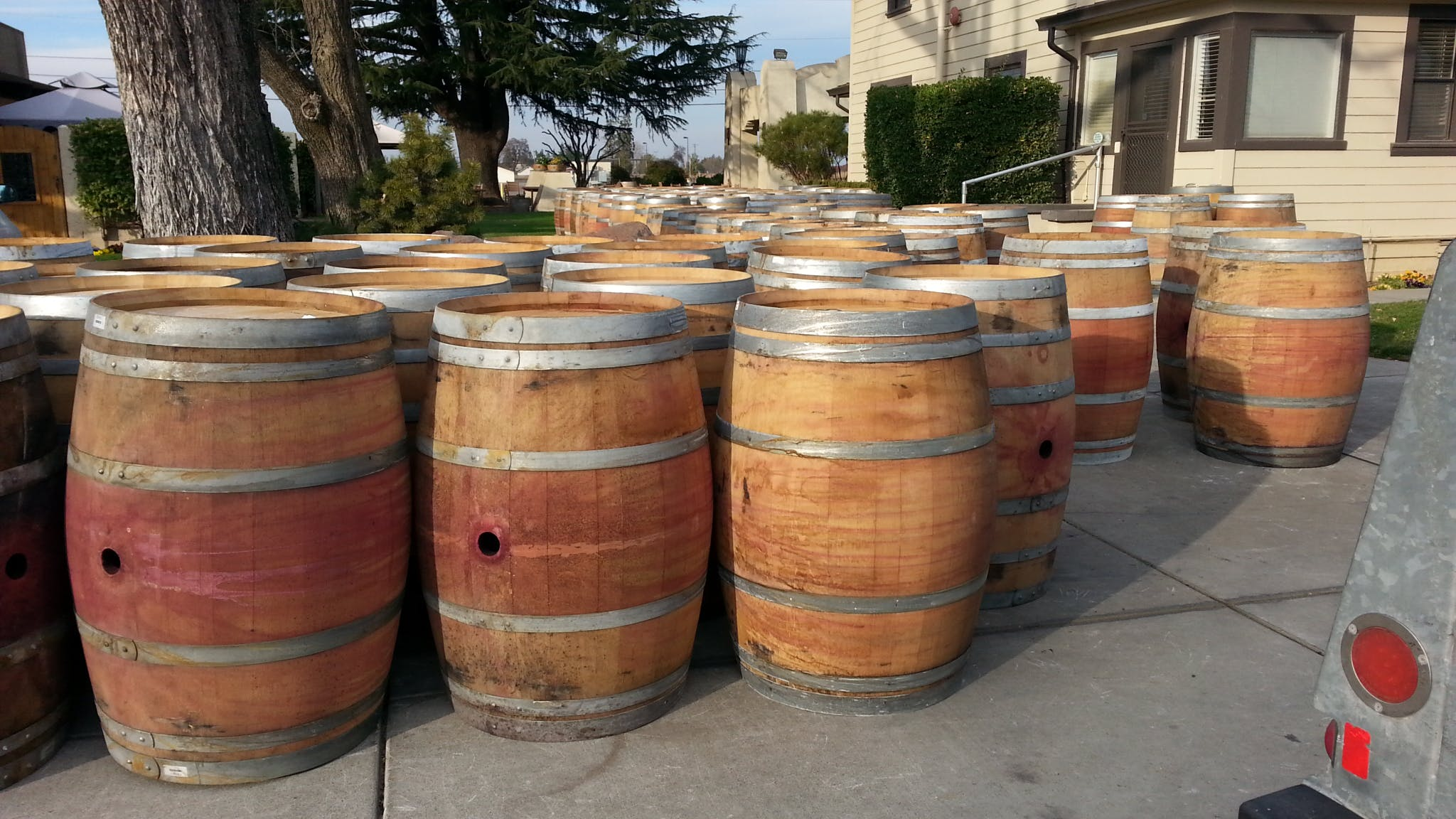 used wine barrel - sold by QT Designs