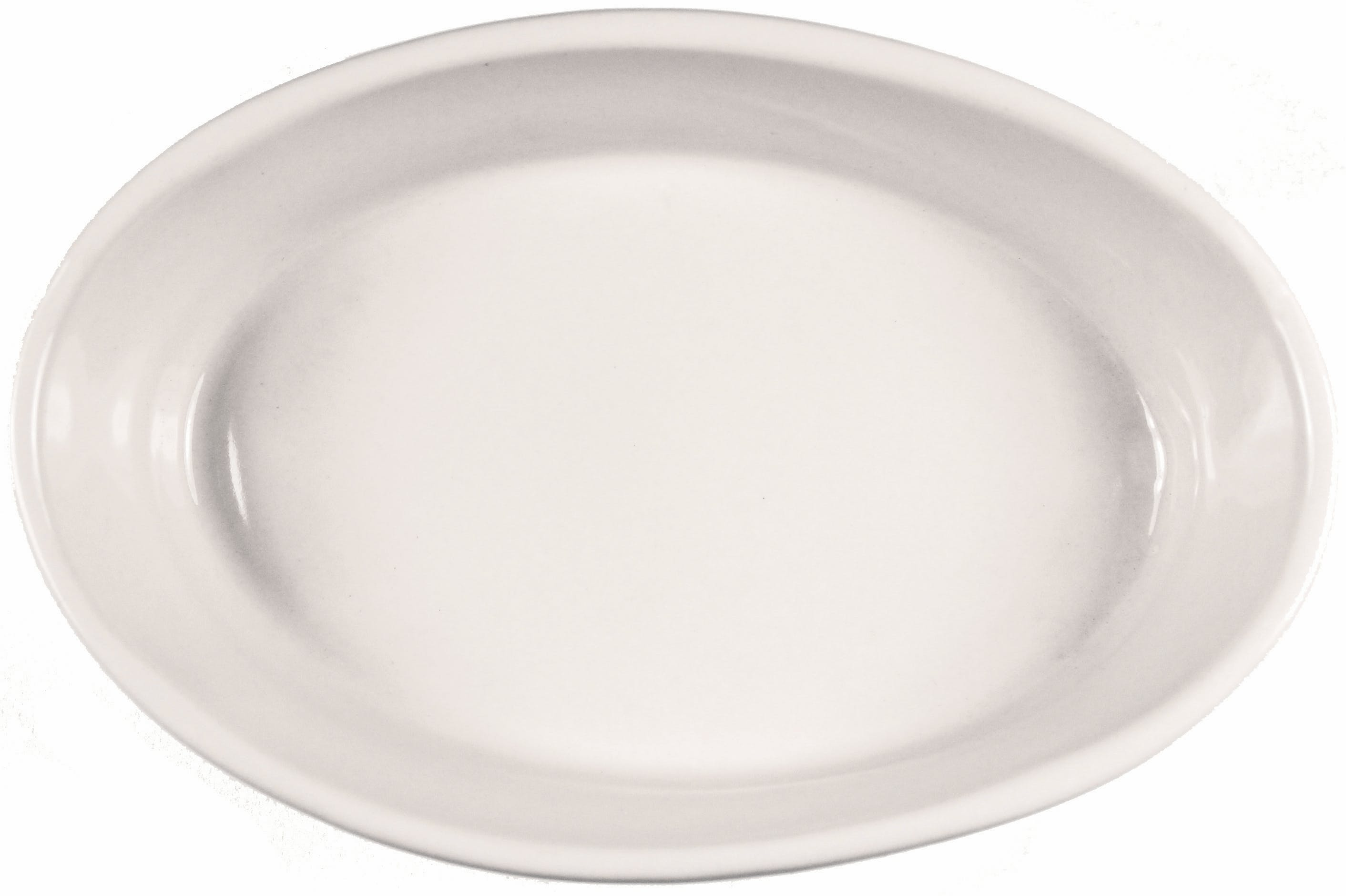 10.5 oz. American White Oven Baker Plate sold by Prestige Glassware