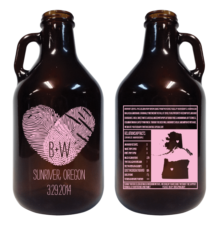 32oz Mini Growler - sold by Cascade Graphics