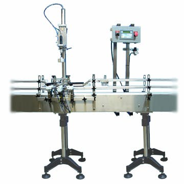 Semi-Automatic Cap Tightener - Semi-Automatic Capping Machine - sold by Inline Filling Systems