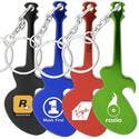 Guitar shaped bottle opener keychain - Promotional keychain sold by Luscan Group