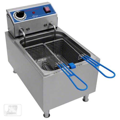 Globe (PF10E) - 10 Lb Electric Countertop Fryer Commercial fryer sold by Food Service Warehouse