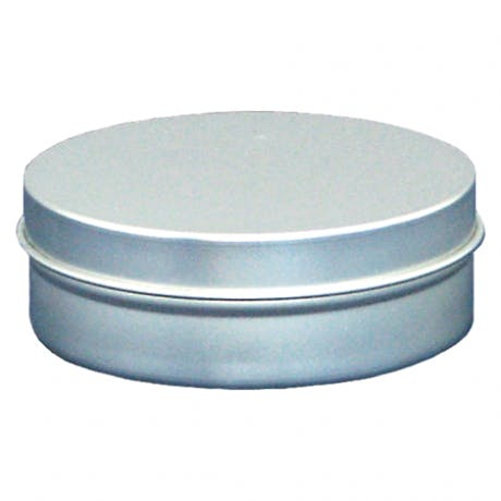 4 oz seamless round slip cover tin Metal tins sold by Inmark Packaging