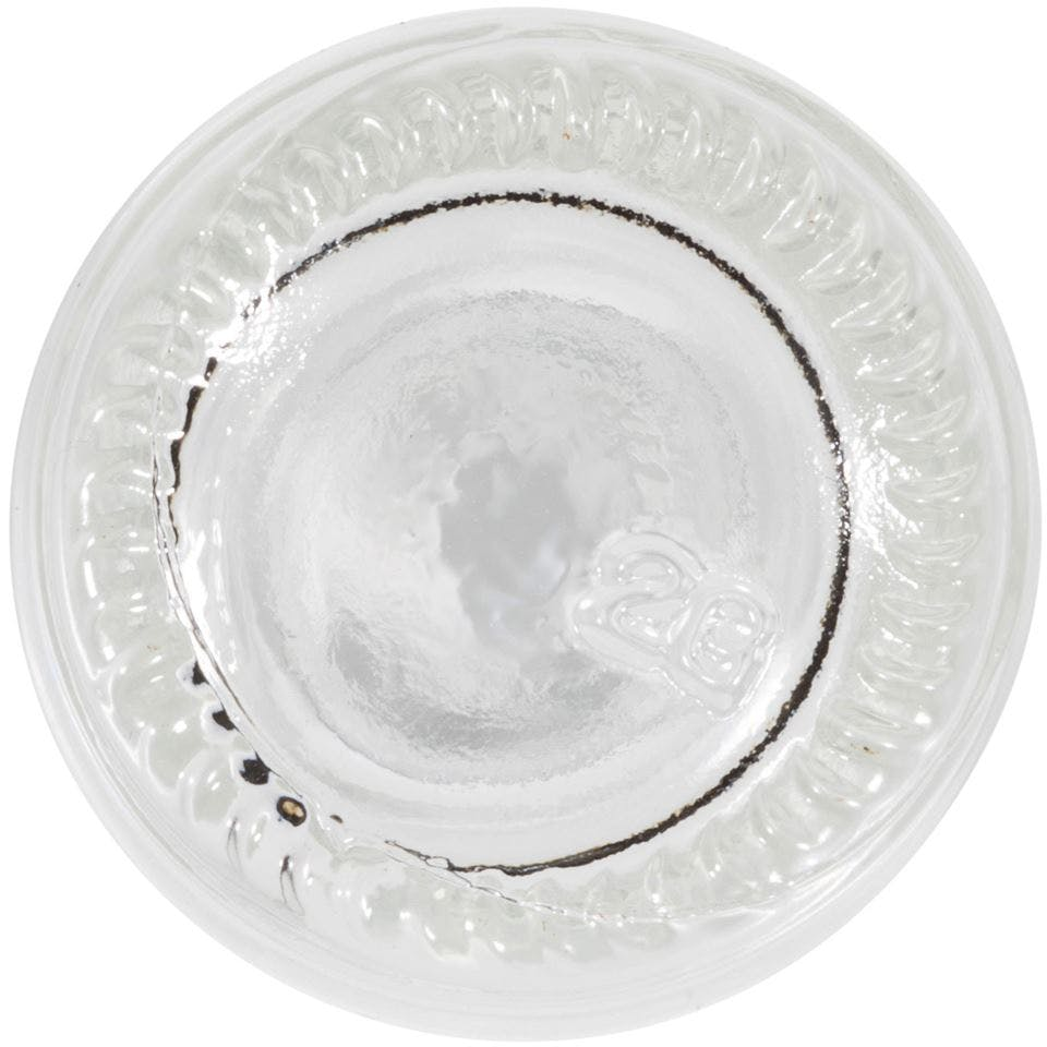 0.5oz Clear Glass Boston Round Bottle - sold by Packaging Options Direct
