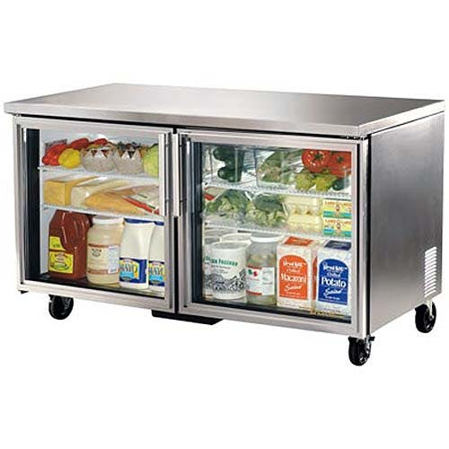 "True - TUC-60G-LP 61"" Low Profile Glass Door Undercounter Refrigerator Commercial refrigerator sold by Food Service Warehouse"