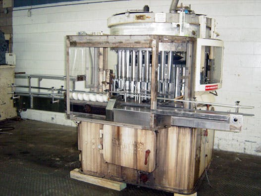 NALBACH 40-HEAD VOLUMETRIC POWDER FILLER Can filler sold by Union Standard Equipment Co