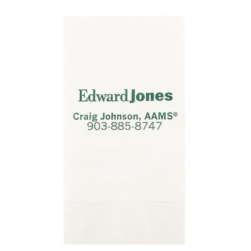 Napkins, 1-Ply White NapkinsAS130DN8, White Dinner, 1/8 Fold, Coin Edge Embossing Napkin sold by Distrimatics, USA