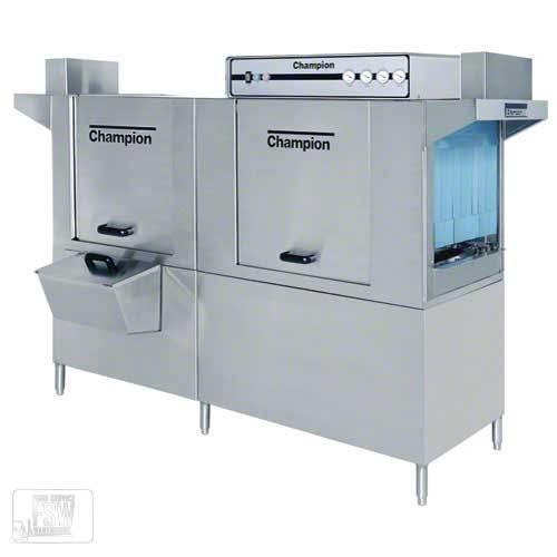 Champion - 90 DRHDPW 266 Rack/Hr High Temp Water Saver Conveyor Dishwasher w/ Prewash Commercial dishwasher sold by Food Service Warehouse