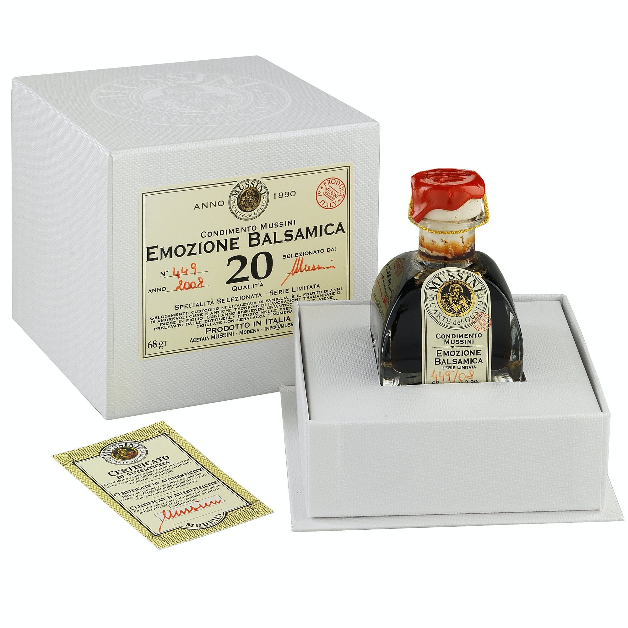 """Emozione"" 20 Year Balsamic Vinegar Balsamic Vinegar sold by M5 Corporation"