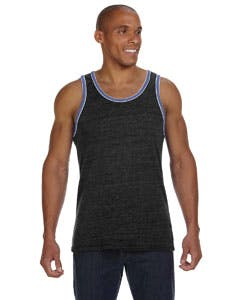 22060E1 Alternative Men's Double Ringer Tank Promotional shirt sold by Lee Marketing Group