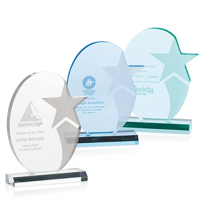 Stellar Acrylic award by Jaffa® Award sold by Distrimatics, USA