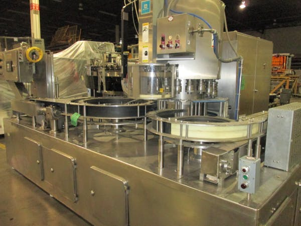Used SIMONAZZI 72 Valve Bottle Filler with Alcoa Capper For Sale - sold by SMB Machinery Systems
