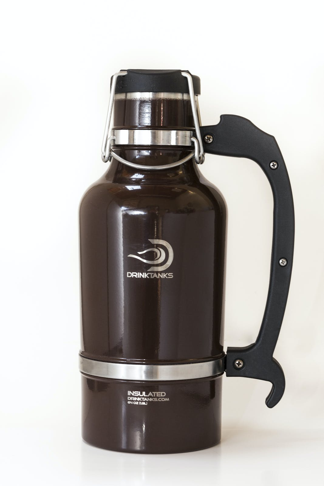 Drink Tanks Growler - Enjoy beer exactly as it was intended. Cold. Fresh. Carbonated. - 64oz Capacity (Brown) Growler sold by Drink Tanks