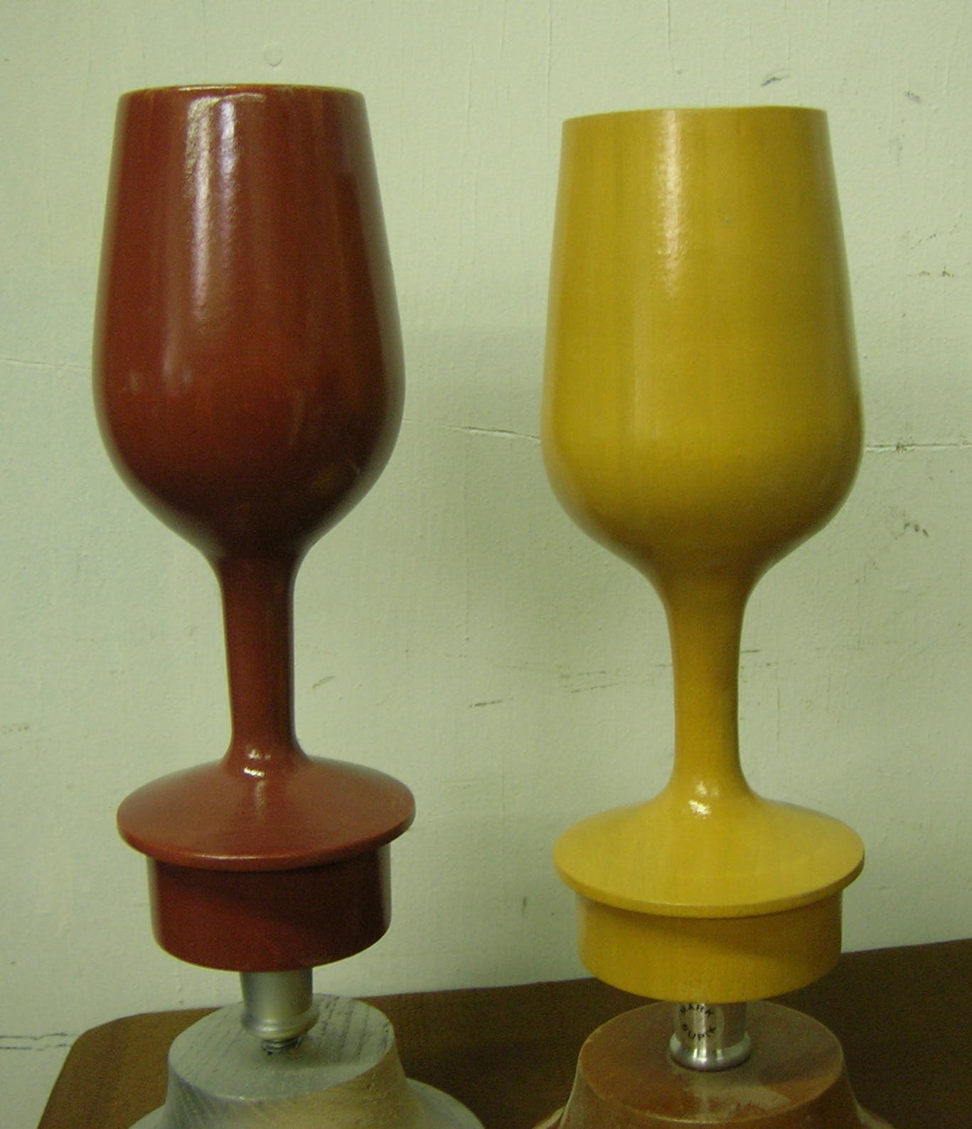 Wine glasses. - Three Dimensions in Wood - sold by Mark Supik & Co.