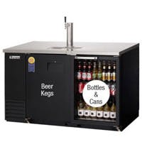 Everest EBD2-BBG Back Bar & Direct Draw Commercial Keg Refrigerator with Solid & Glass Doors Kegerator sold by Beverage Factory
