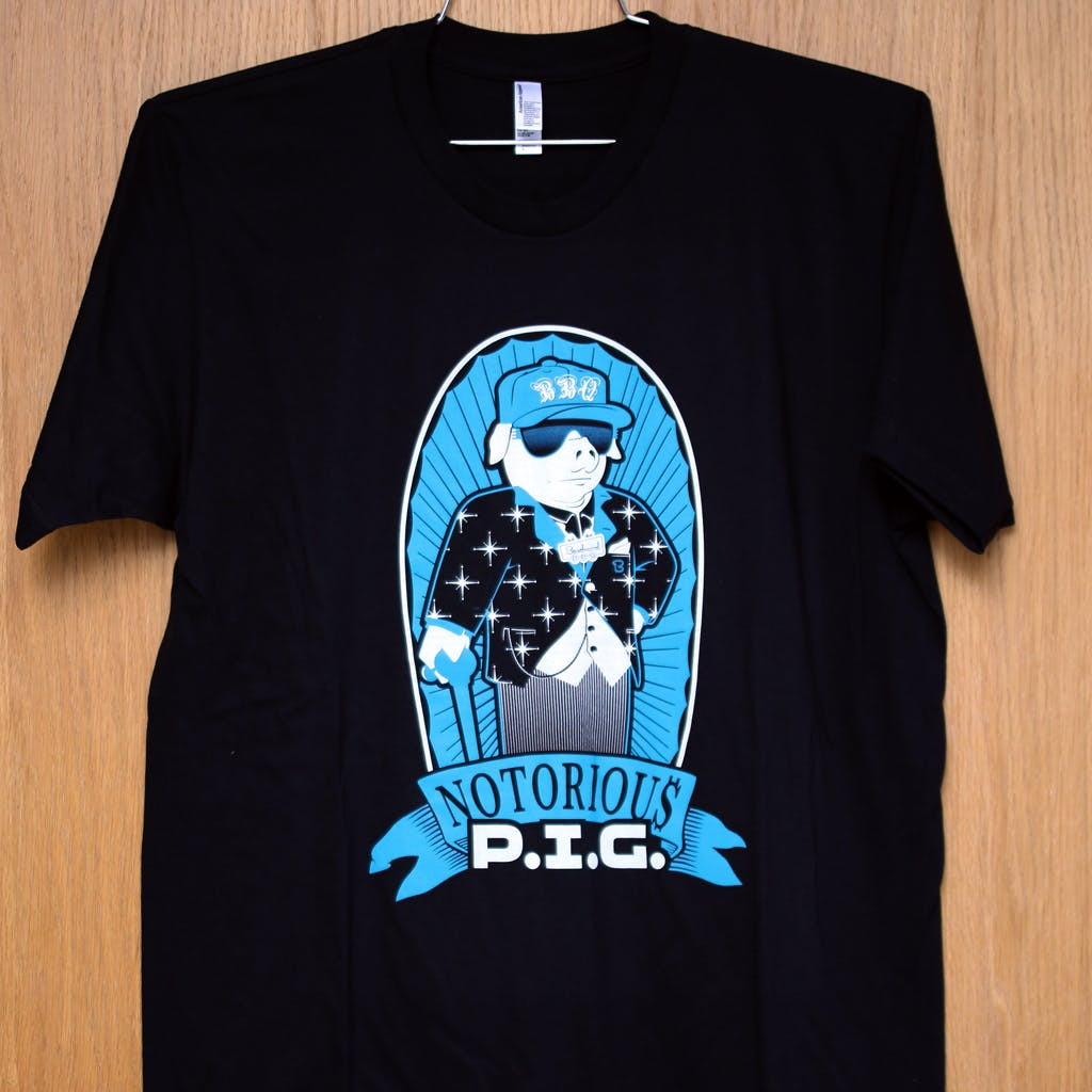 Ringspun cotton tee - Beachwood - notorious p.i.g. Promotional shirt sold by Brewery Outfitters