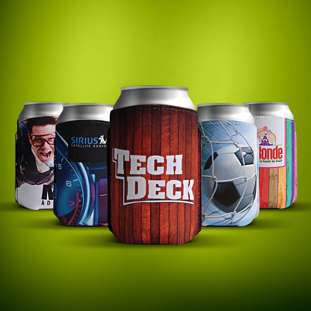 Full color printed Can Cooler Koozie sold by Luscan Group