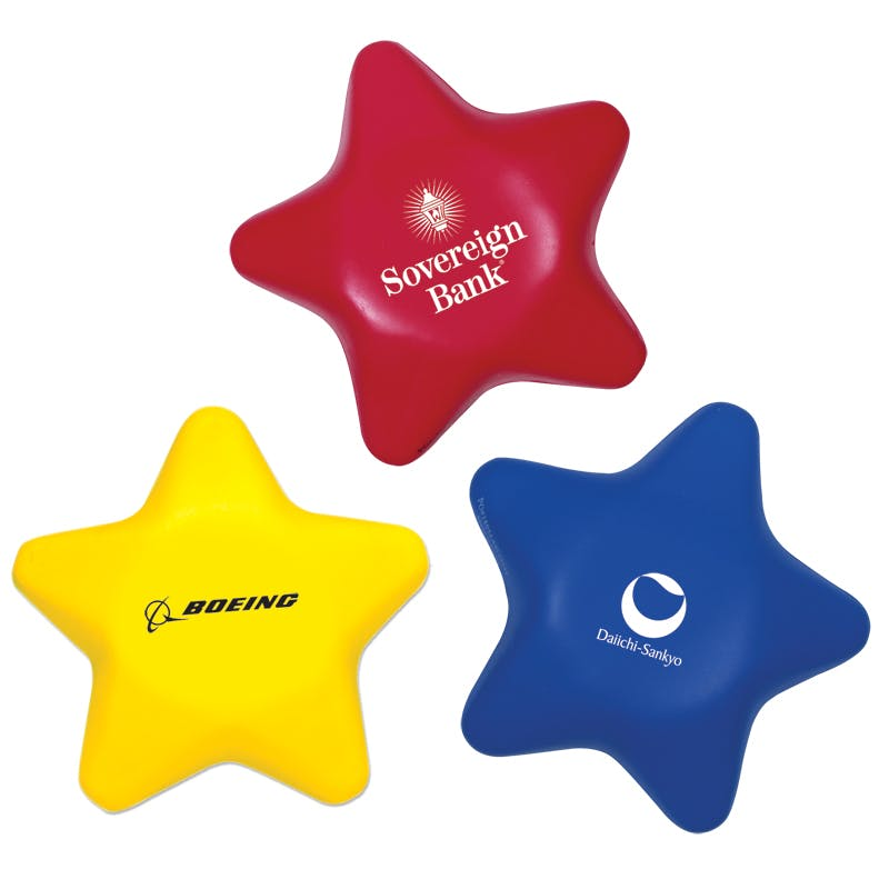 Star Shaped Stress Reliever (Item # SGKIP-BGBWE) Stress reliever sold by InkEasy