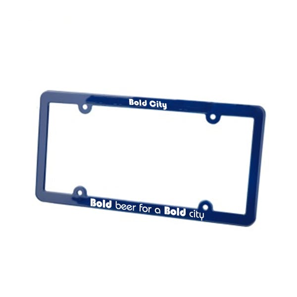 Slim License Plate Frame Promotional product sold by MicrobrewMarketing.com