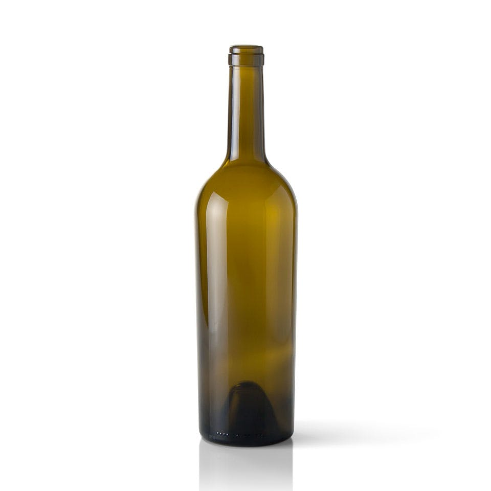 750 ml Antique Green Glass Claret Wine Bottle Wine bottle sold by Packaging Options Direct