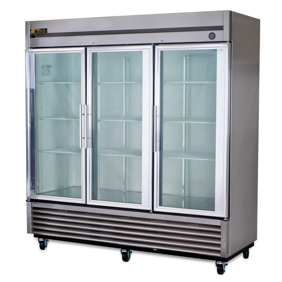 True TS-72G Glass Door Reach-In Refrigerator - sold by pizzaovens.com