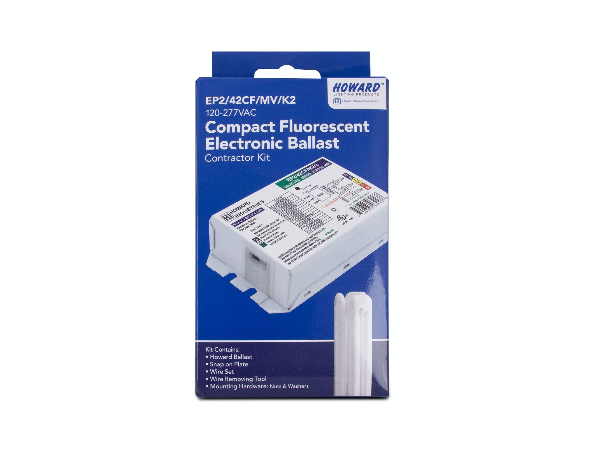 2 Lamp Electronic Compact Fluorescent Ballast - EP2/42CF/MV/K2 - sold by RelightDepot.com