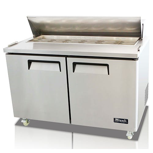 Migali C-SP60-16 Two Door Prep Table Food prep table sold by Pizza Solutions