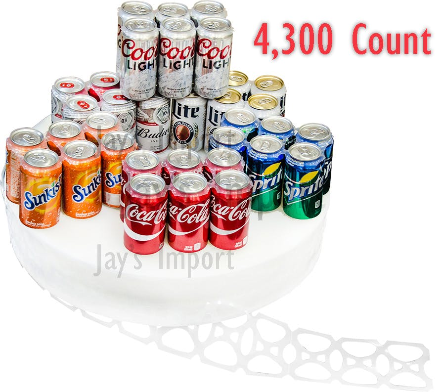 Six Pack Rings - 12oz Cans - 4,300 Count Roll Can carrier ring sold by Jay's Import & Wholesale