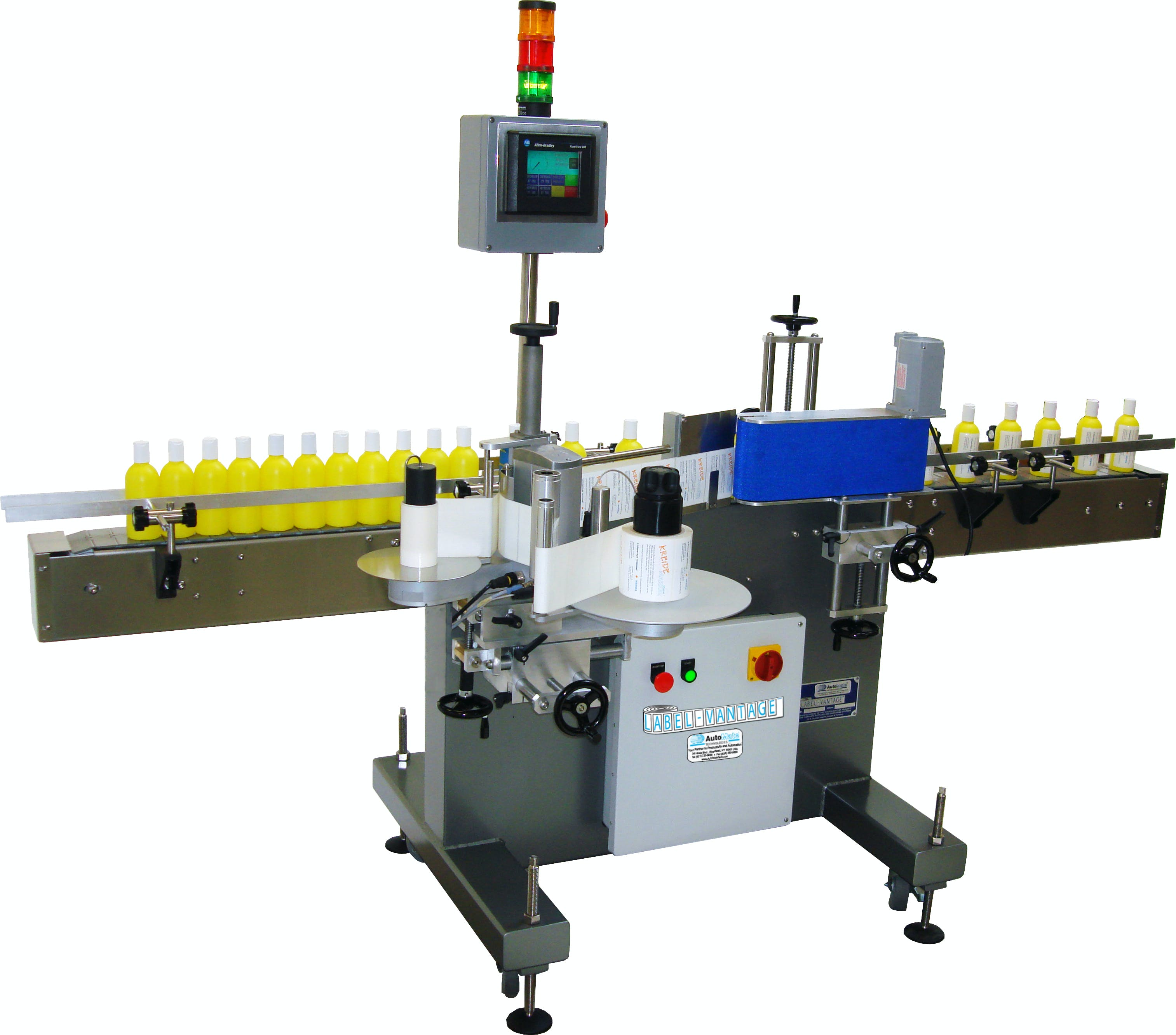 AM-LW-40 Wrap Labeler Bottle labeler sold by Kaps-All Packaging Systems, Inc.