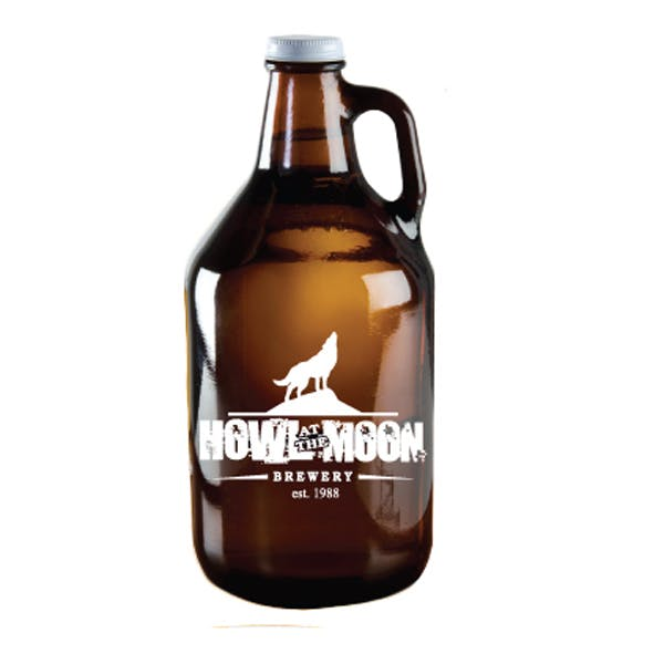 Amber 64 oz. Growler Jug Keg growler sold by Worldwide Ticket and Label