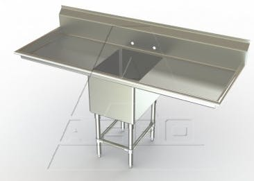 STAINLESS STEEL SINKS - sold by Restaurant Supply Warehouse