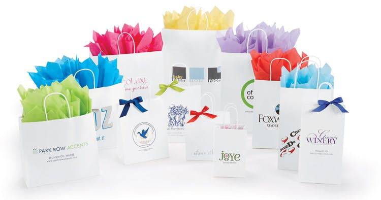 White Kraft Bags Bag sold by The Packaging Source, Inc.