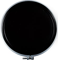 55 Gallon Black Open Head Lined Steel Drum w/ Cover and Bolt Ring, UN Rated - sold by The Cary Company