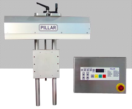 2kw Unifoiler-C Conveyor Mounted Stationary System - Pillar Technologies - Unifoiler Induction Sealer (2KW) - ALL PURPOSE - sold by Package Devices LLC