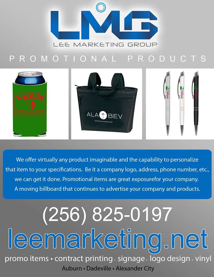 All types of promotional products offered.  Promotional product sold by Lee Marketing Group