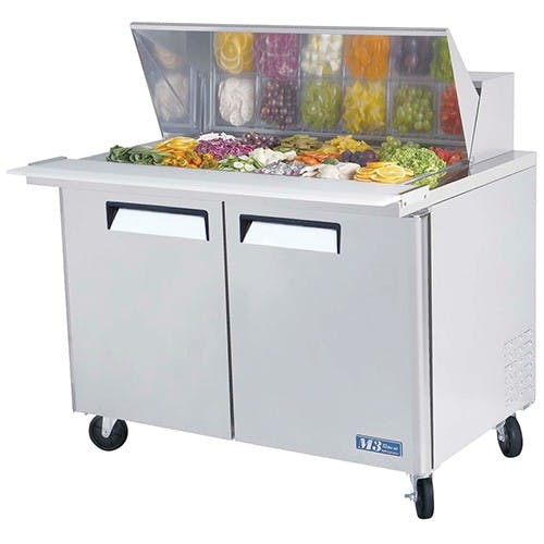 "Turbo Air MST-48-18 - Sandwich Prep Table - Standard Top 2 Door 48.25"" Food prep table sold by Elite Restaurant Equipment"