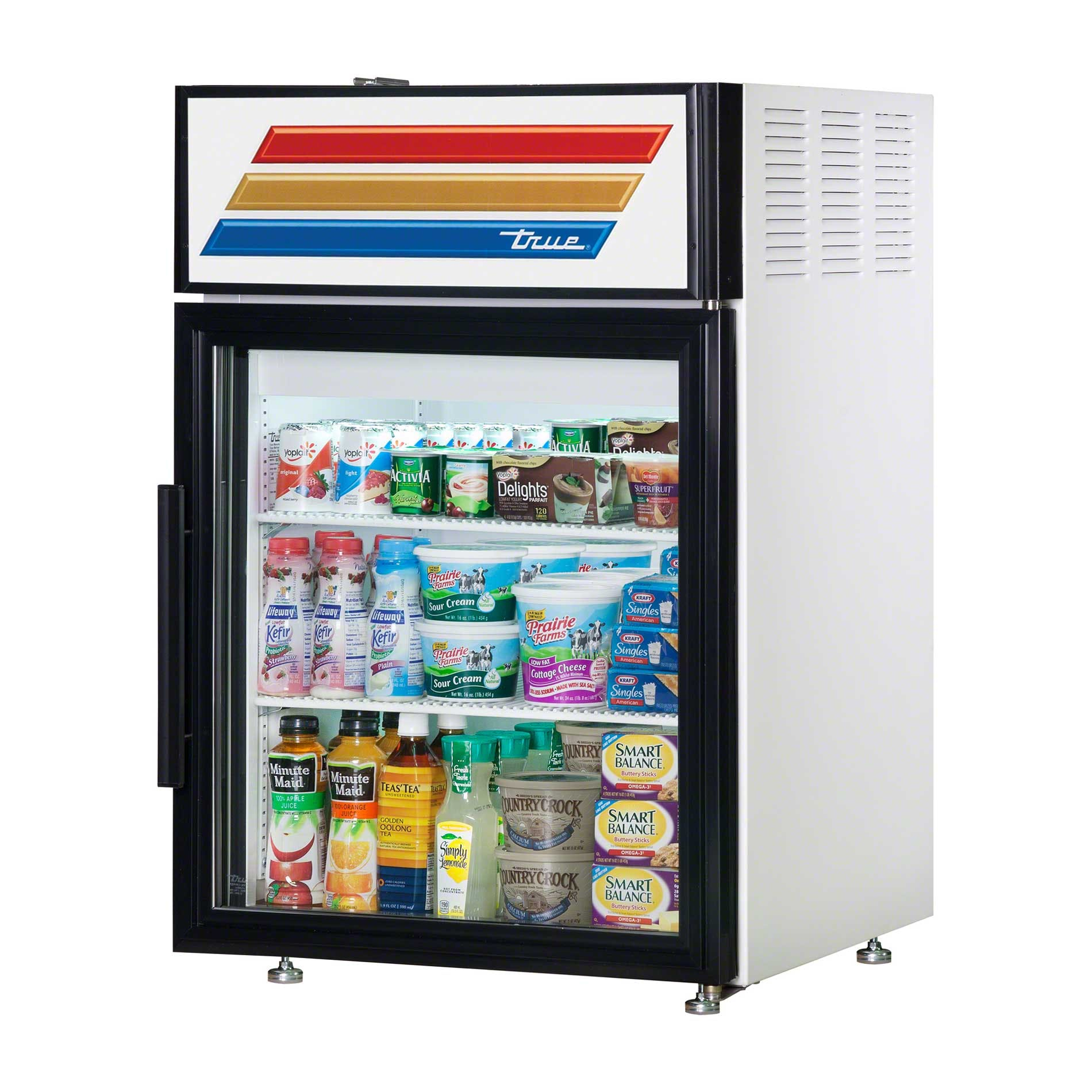 "True - GDM-5-LD 24"" Countertop Glass Door Merchandiser Refrigerator LED Commercial refrigerator sold by Food Service Warehouse"